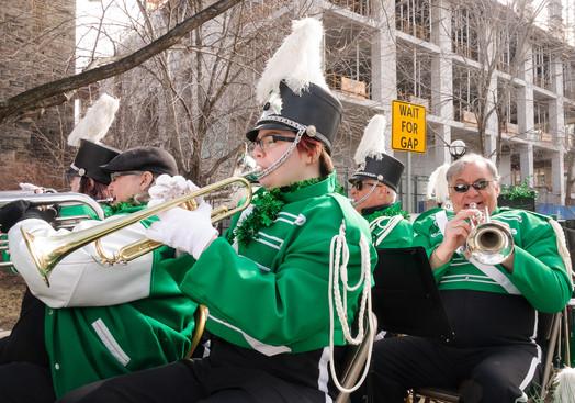 Liz, Kirstine, Mike and Joe, Optimists Alumni (Toronto St Patrick's Day Parade, 2017)