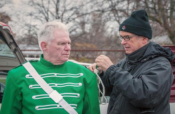 Vern Reid & Dave Johns (Oakville Santa Parade, 2014)