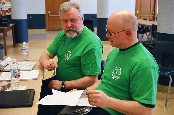 Brian Hogan (L) and Dave Burgess, our DMs (2007)