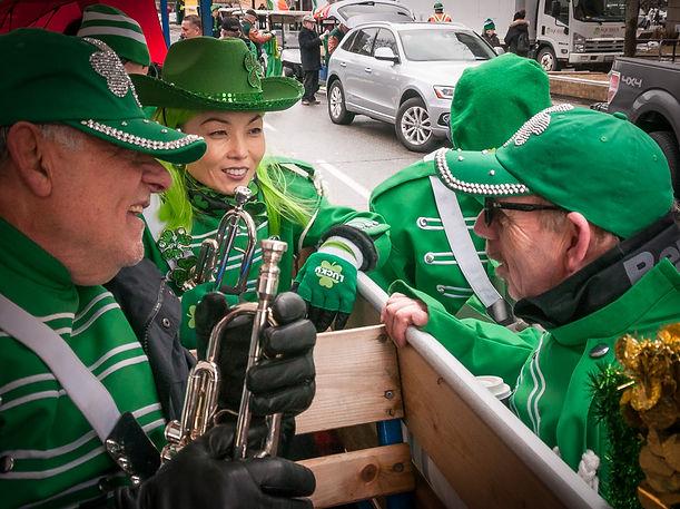 Joe, Soo and Doug, Optimists Alumni (Toronto St Pat's Parade, 2019)