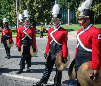 Members of the MM Robinson Drumline (Lions International Parade, Toronto, 2014)