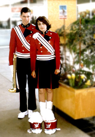 Brian Byrne and friend in their Grantham uniforms