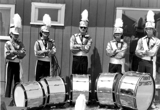 Steve O'Connor, Steve Shimski, Ric Brown, Don McDonald, Peter Price, 1975 (Silver drums)