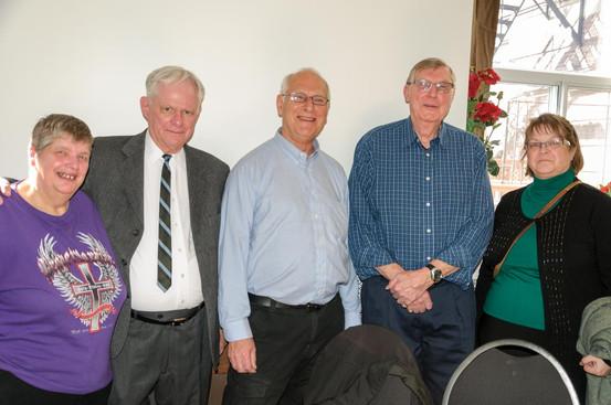 Bernardine Thompson, Vern Reid, Bob Carell, Phil Hennings and Laura King (Remembering Paul Thompson, 2015)