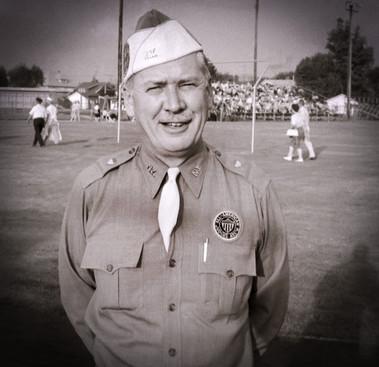 Mr Baggs in his All-American Judges uniform (Falconer, NY, 1962)