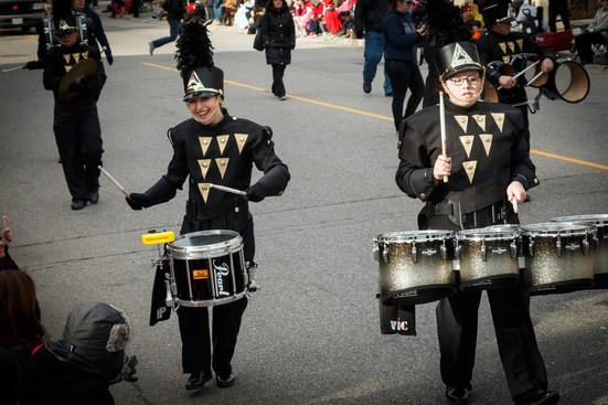 St Mary's Drum Line (Mississauga Santa Claus Parade, 2015)