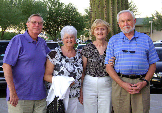 Phil and Betty Hennings with Caroll and Henry Beben (Arizona)