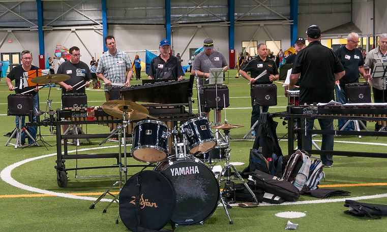 Some of the drummers (Oktobercorps rehearsal, May 12, 2018)