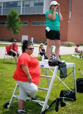 Melinda & Jackie at rehearsal (July, 2014)