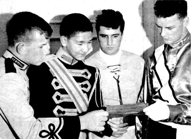 L-R: Doug Gibb (Sarnia Sertomanaires); Ron Chong (Golden Monarchs); Ted Stec (Hamilton Conqueror); Ross Cation (Toronto Optimists)