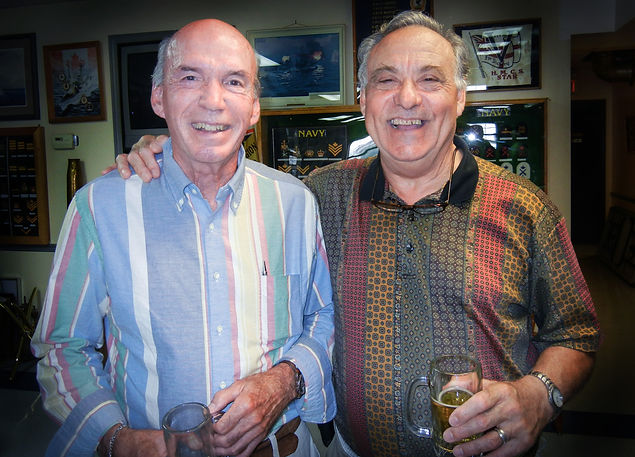 L-R: Roy Wilson of Conqueror & Scout House with Joe Gianna of Optimists (2012)