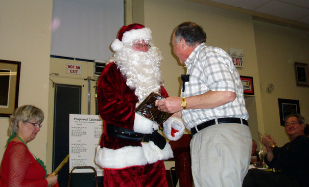 Santa with John Shearer (Belated Christmas party, Jan. 2008)