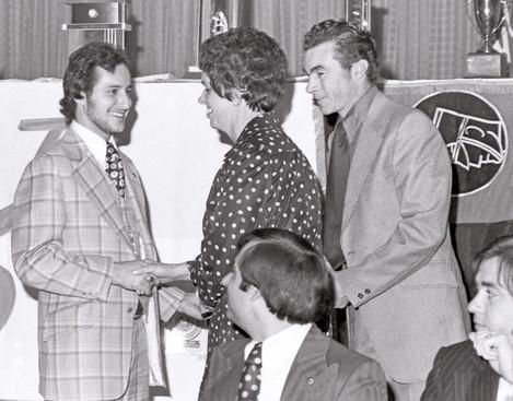 George Nasello, ?, Vic Sciore, Joe Gianna & Doug MacKenzie (Awards Dinner, 1975)