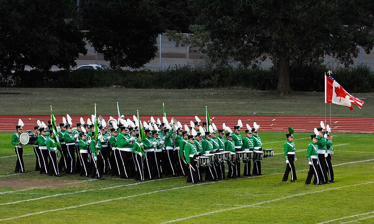 Optimists Alumni entering the field (Waterloo, 2007)