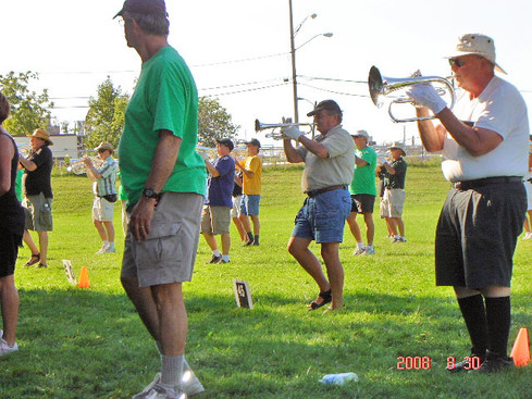 Optimists Alumni rehearsing in Rochester for DCA (2008)