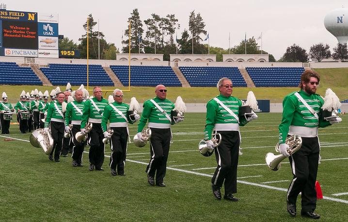 Optimists Alumni leave the field (DCA, Annapolis, 2012)