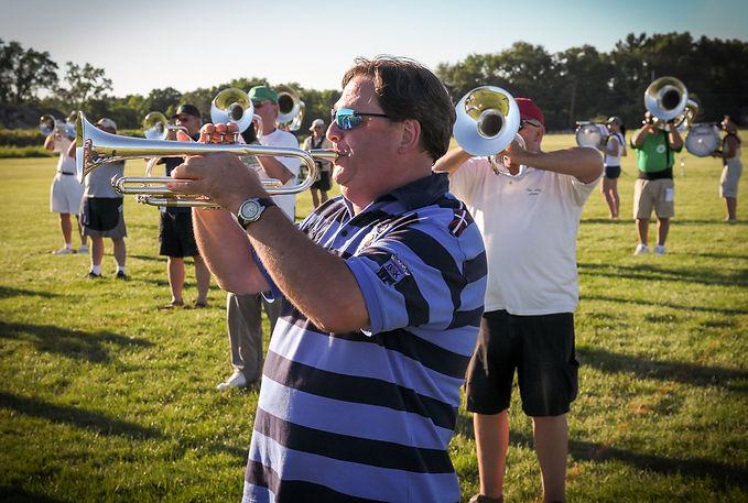 Gerry Bencze, Optimists Alumni rehearsing (Michigan City, 2010)