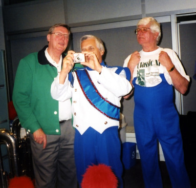 Phil Hennings, Warren Berger and Frank Rivier, Optimists Alumni dressed for Lotto 6/49 promo (2004)