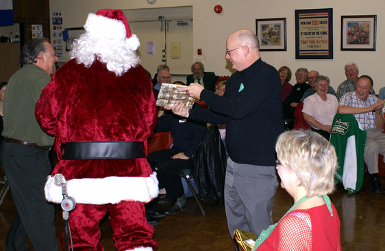 Santa and Dave Burgess (January Party, 2008)