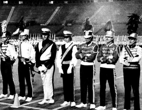 Drum Majors at the Big 10 Show (Hamilton, 1972)