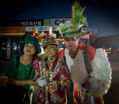 ?, Soo Lee and Kevin Tierney, Optimists Alumni (Jeju, South Korea, 2019)