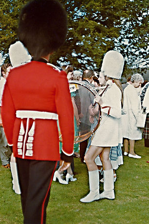taken during the Alberta All-Girls tour of England in 1977
