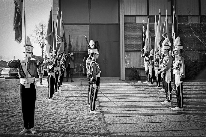 Toronto Optimist Honour Guard (Vern Johansson's wedding)