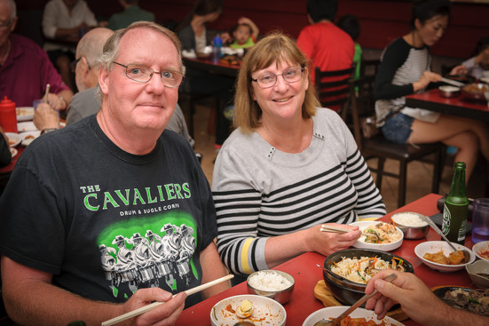 Ric and Laurie at our pre-trip Korean meal (July 22, 2017)