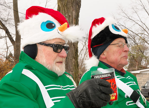 Barry and Brian, Optimists Alumni (Guelph Santa Claus parade, 2016)
