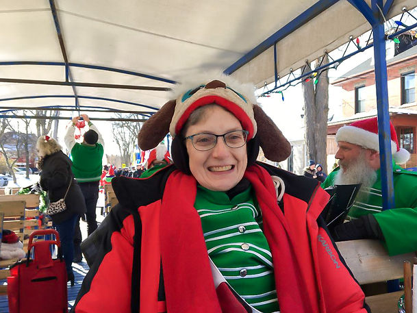 Judy Ferguson, Optimists Alumni (Guelph Santa Parade, 2019)