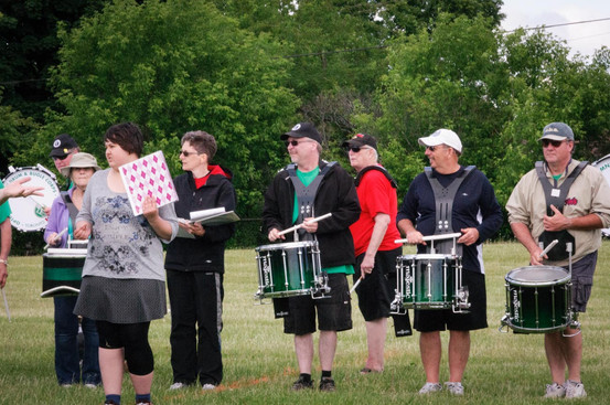 Optimists Alumni rehearsing (June, 2014)