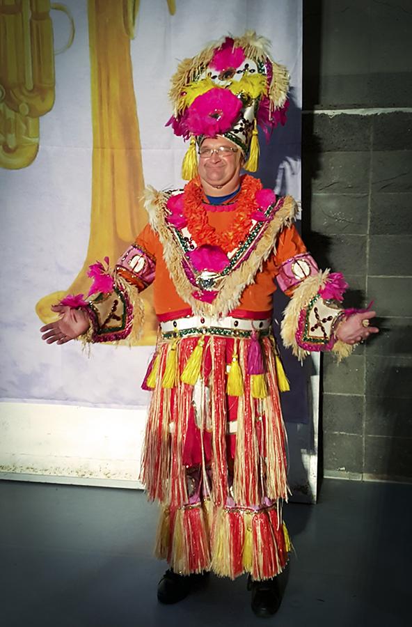 Mark Sichewski in his Mummers costume (Jeju, 2019)