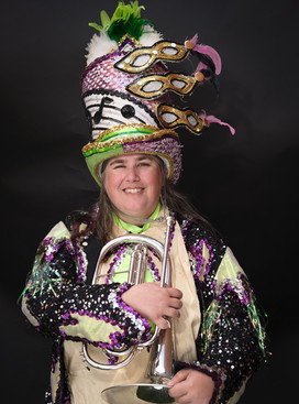 Liz Dodsworth in her Party Gras costume (July, 2017)