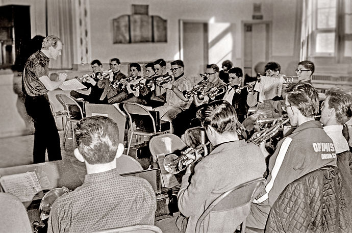 Barry Bell leading the Optimists rehearsal (1964)