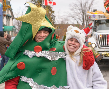 A couple of participants (Acton Santa Claus Parade, 2014)