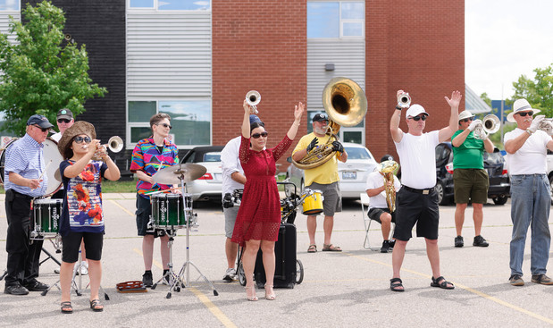 Optimists Alumni rehearsing (Waterloo, 2016)