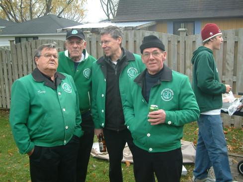 Terry Sweeney, Dick Brown, Mike Thys, Al Miller (at Ric Brown's, 2005)