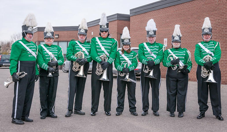 Gord, Terry, Dave, Mike, Pat, Vern, Heather and Brian (Oakville Santa Parade, 2014)