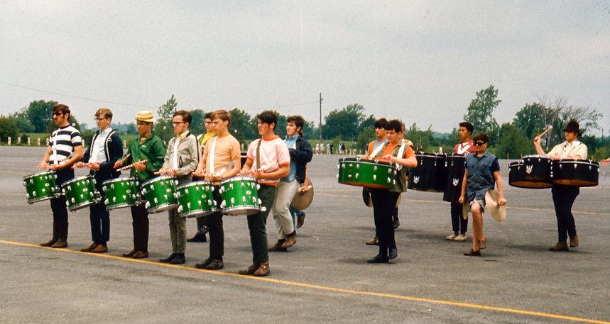 St Joe's  drums rehearsing (Batavia, 1969)