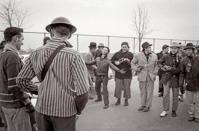 Toronto Optimists in costume parade (1961)