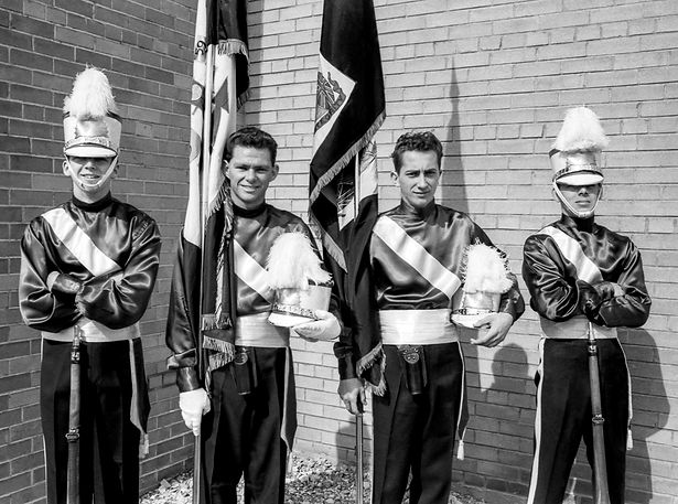 Andy Henderson, ?, Jim Nisbet and Al Miller (1961)