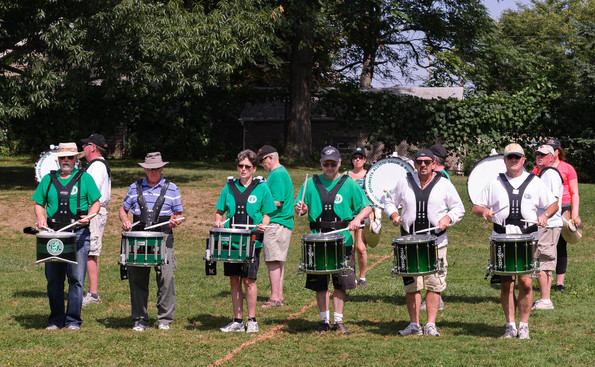 Optimists Alumni drums rehearsing (Rochester, 2014)