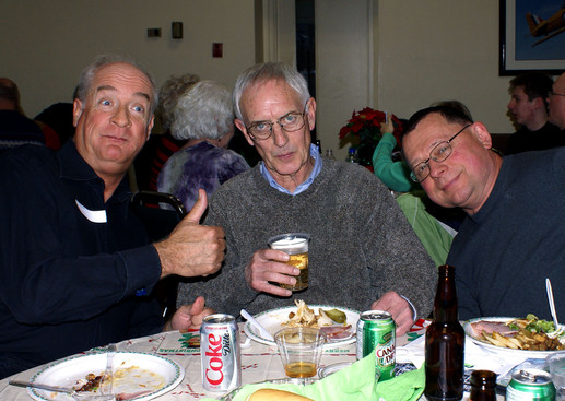 'Bari' nice guys: Mike Lang, Paul Blanchard & Joe Lasko (Belated Christmas party, Jan. 2008)