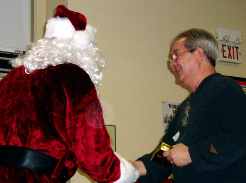 Ron Chong with Santa, January Party (2008)