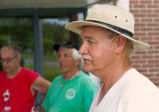 Rick Lang (with Doug and Warren behind), Optimists Alumni (Oshawa Exhibition, June 1, 2013)
