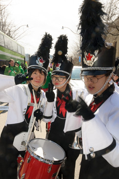 Some members of Northstar (Toronto St Patrick's Day Parade, 2017)