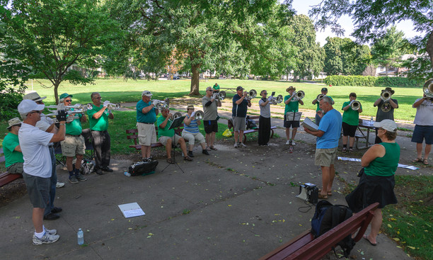 Optimists Alumni rehearsing (DCA, Rochester, 2014)