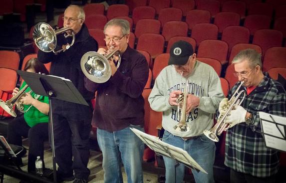 Heather, Bob, Ron, Gord & Doug (Rehearsal, March, 2014)