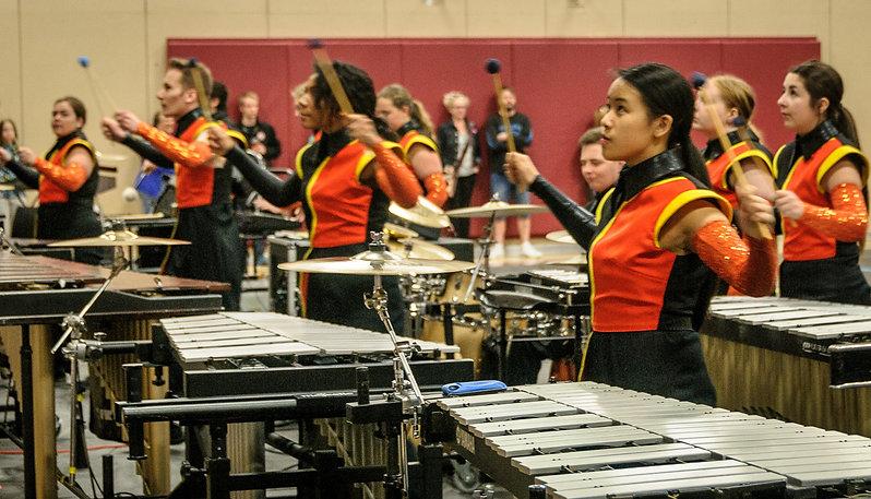 MM Robinson drumline (MM Robinson, Burlington, 2016)
