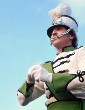Peter Byrne in his one shot as Drum Major (Brantford, 1975)